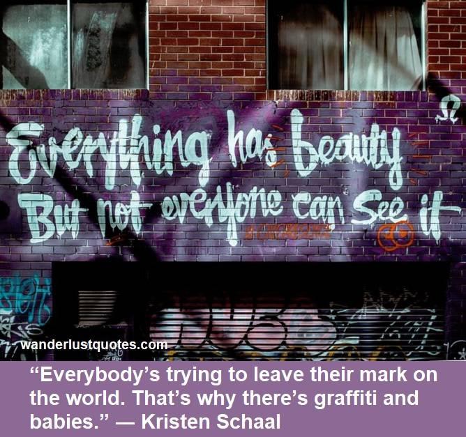 two graffiti quotes